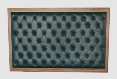 Framed Chesterfield Green Headboard